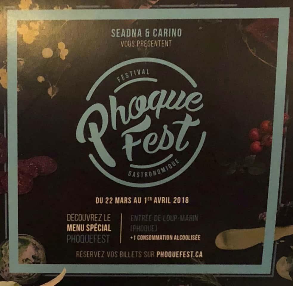 Affiche - Festival Phoque Fest 2018 - Montréal - pour démystifier et valoriser la viande de loup-marin