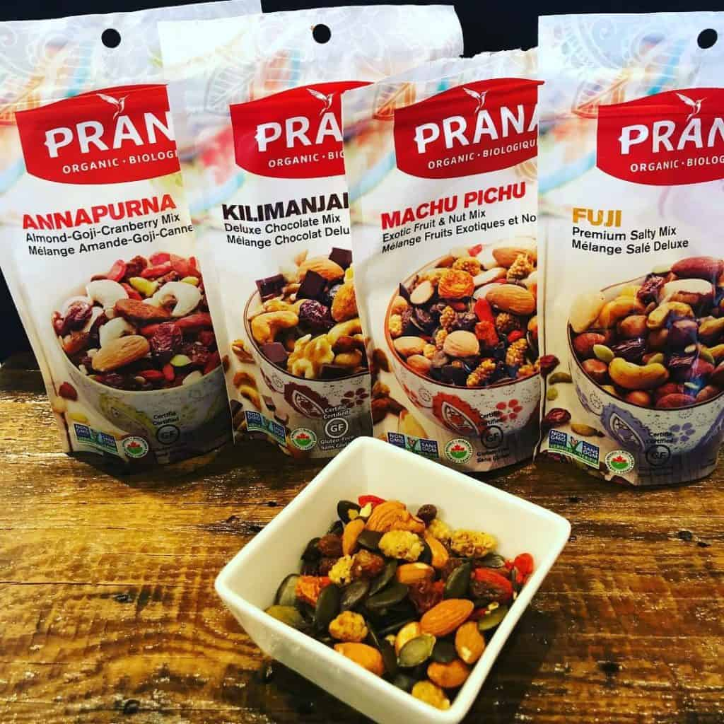 Les mélanges de collations pour randonnées Prana