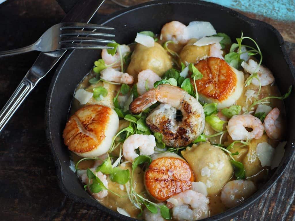 agnolotti à la joue de veau et crevettes nordiques, à la Pizzeria Caldo servis durant la Pasta Week à Montréal