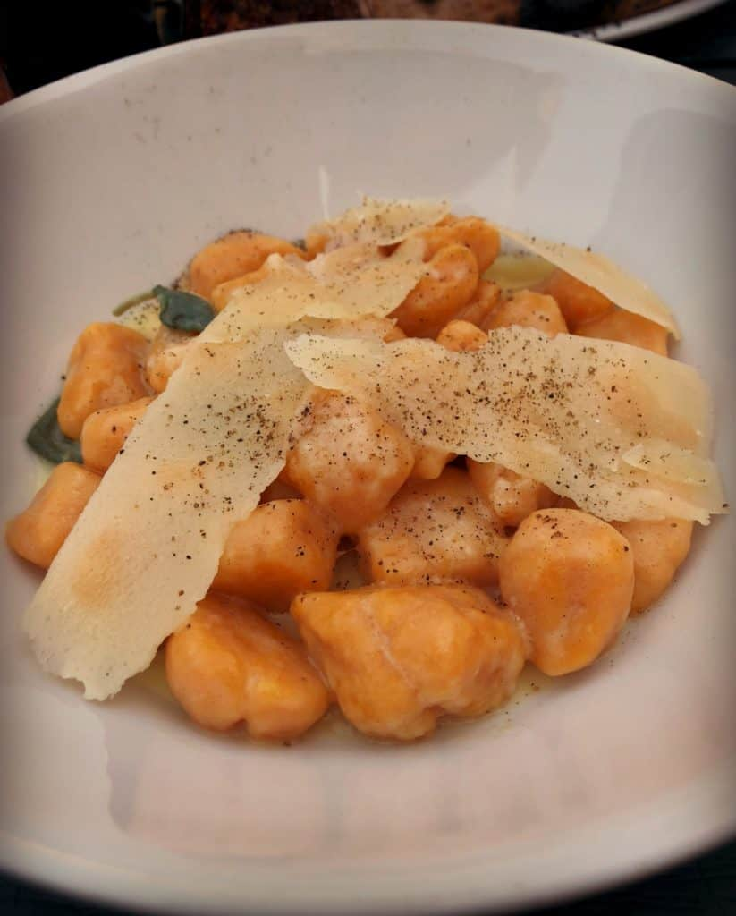 Gnocchis à la courge, beurre, sauge et parmesan au restaurant Pizzaiolle de Montréal