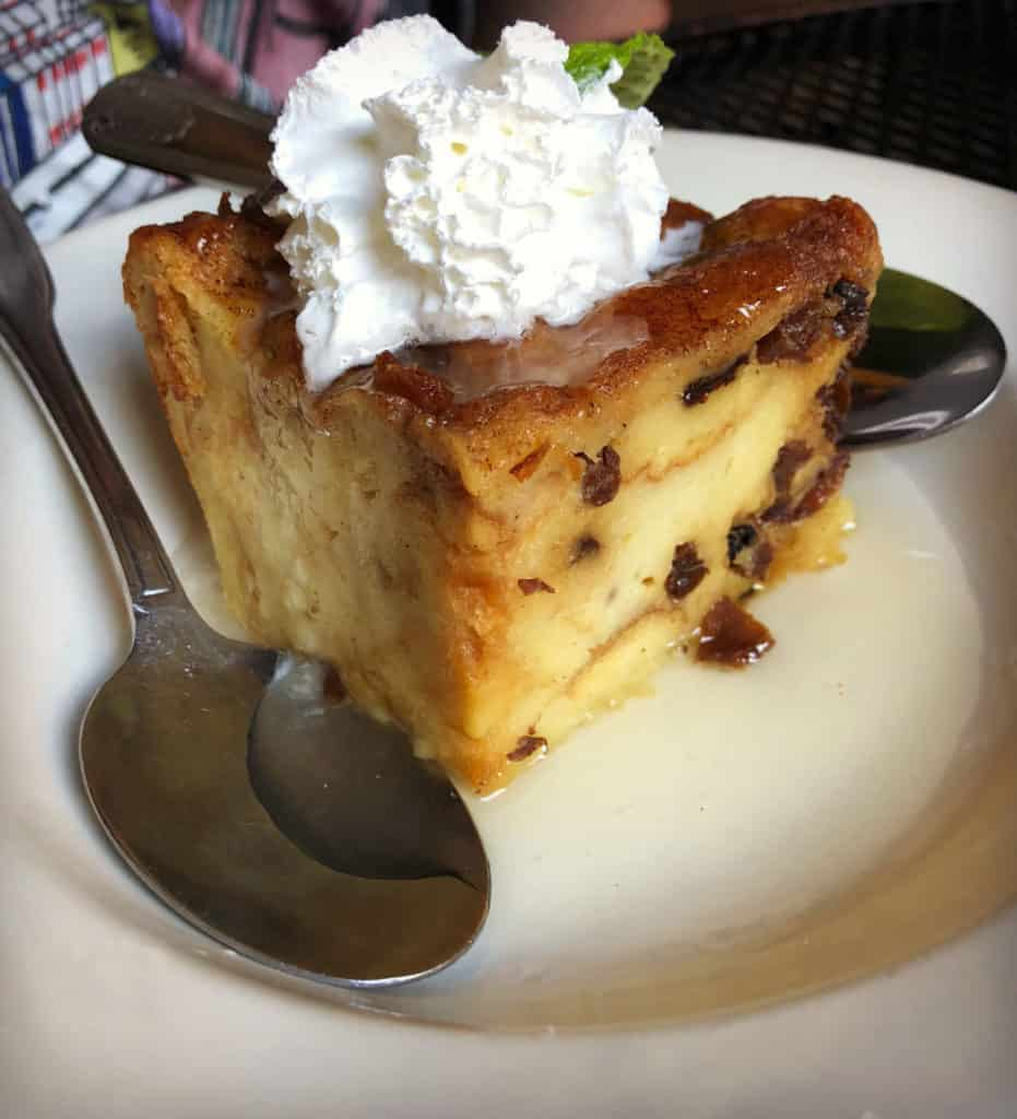 Le bread pudding servi chez Napoleon House