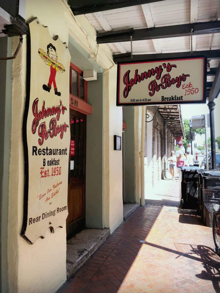 Chez Johnny's Po-Boys, Nouvelle-Orléans