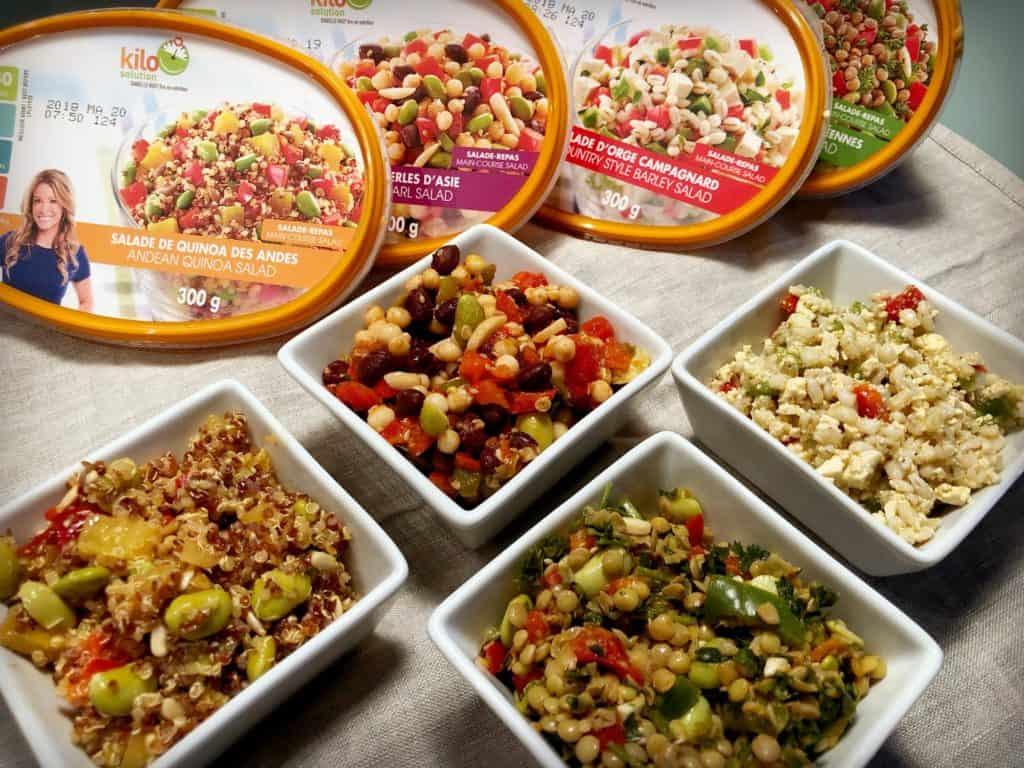 Salades-repas Kilo Solution - Bouffe : 7 produits pour vos prochains pique-niques, lunchs et barbecues