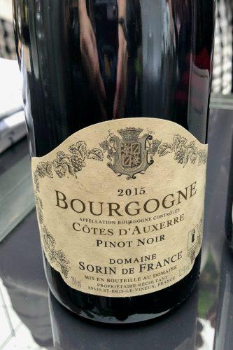 Côtes d'Auxerre Pitno noir - Sorin de France - 2015