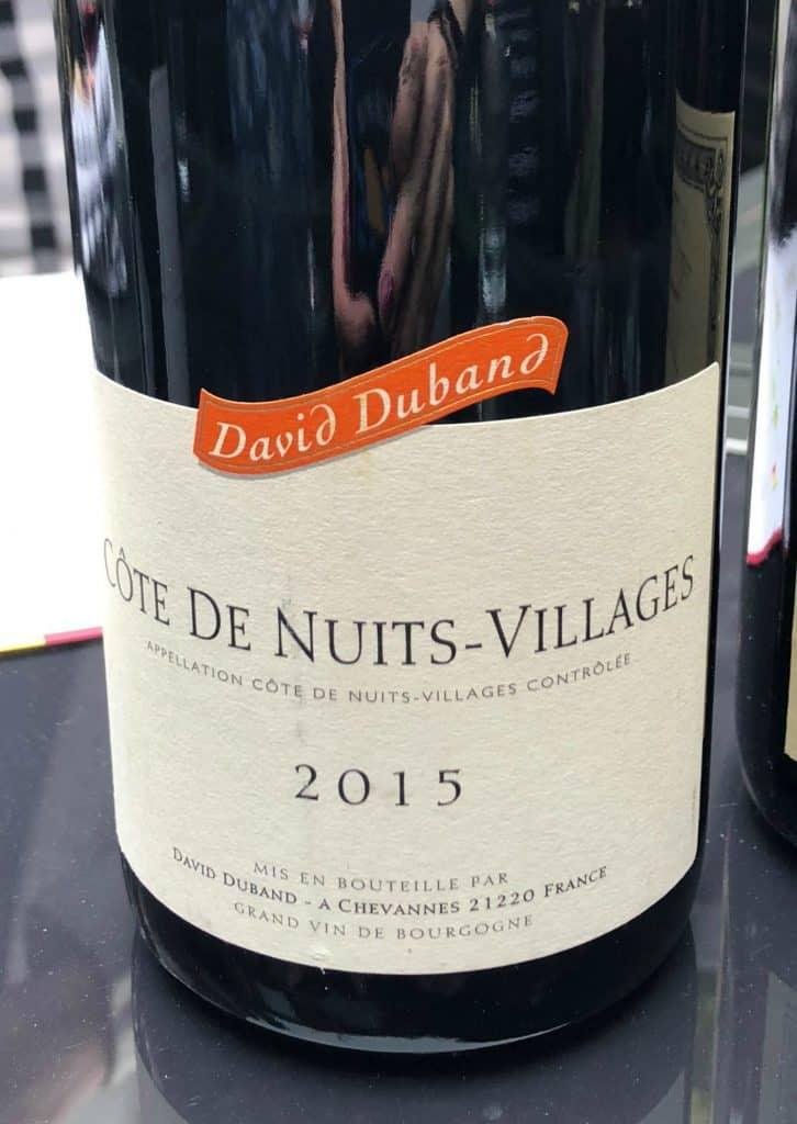Côte de Nuits-Village 2015 - David Duband - 2015