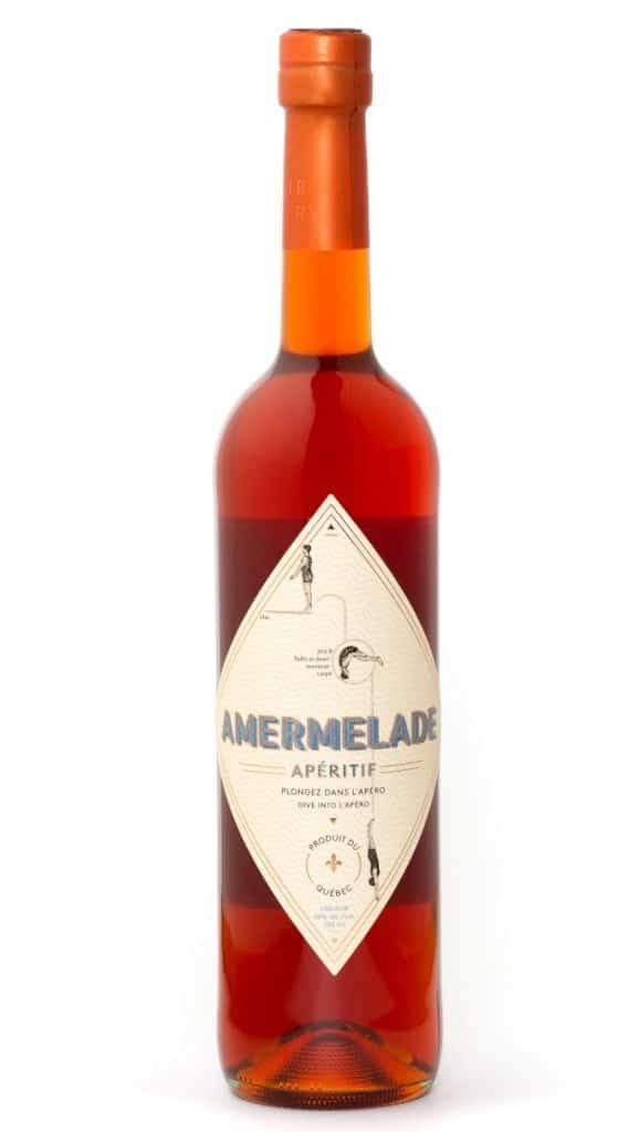 Bouteille d'Amermelade, un premier apéritif amer québécois