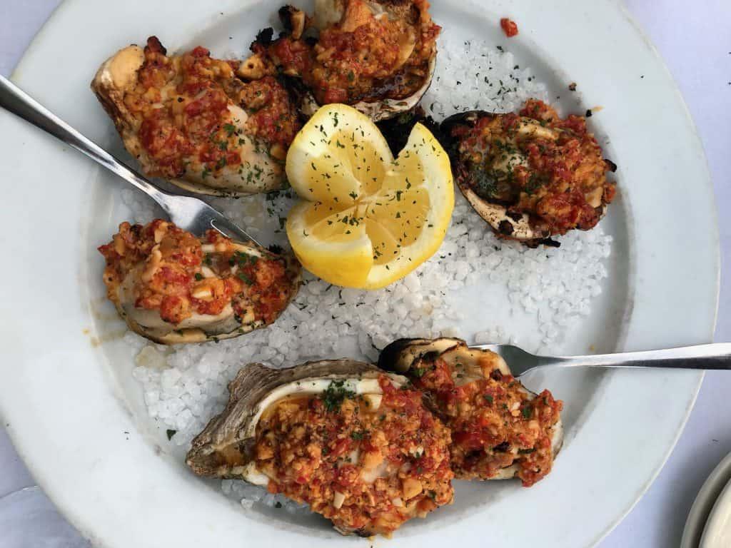 Chargrilled oyster chez Cristiano ristorante - Houma