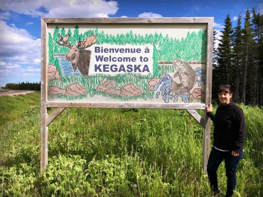 Pancarte à l'entrée de Kegaska