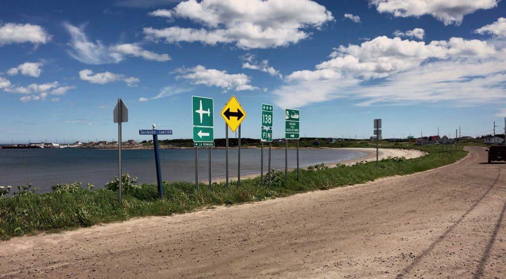 La fin de la route 138 à Kegaska