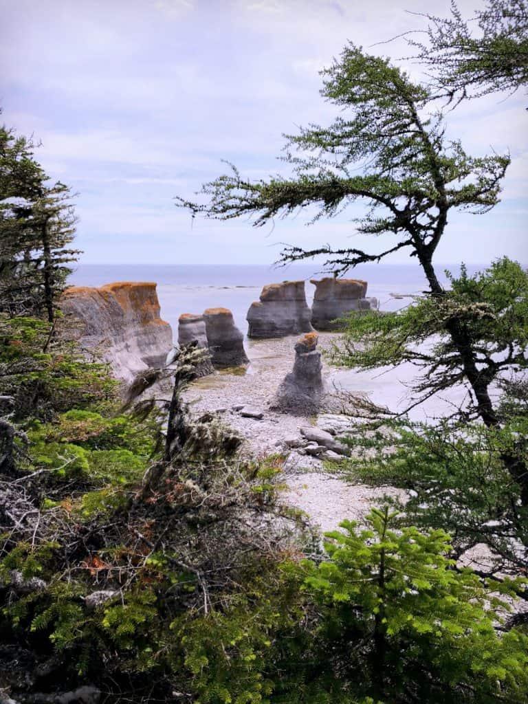 Monolithes de l'Ile Quarry - Archipel de Mingan - Côte-Nord