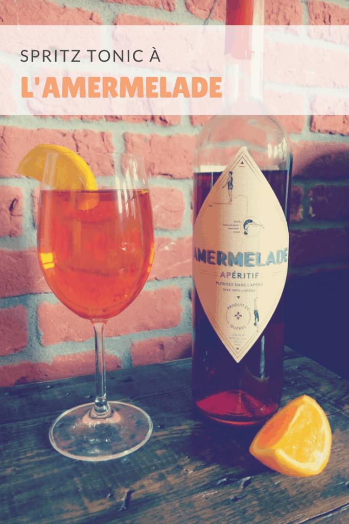 Recette de Spritz tonic à l'Amermelade