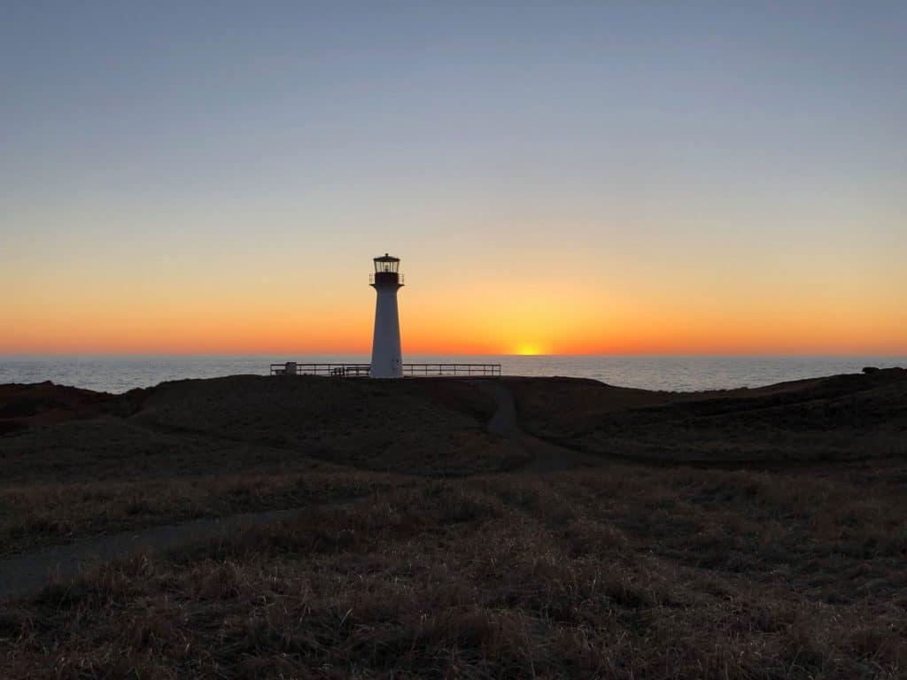 Le phare du Borgot au coucher de soleil