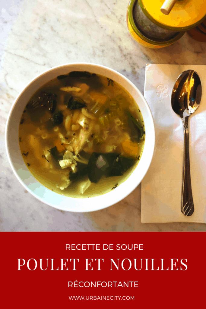 Recette de soupe poulet et nouilles aux fines herbes