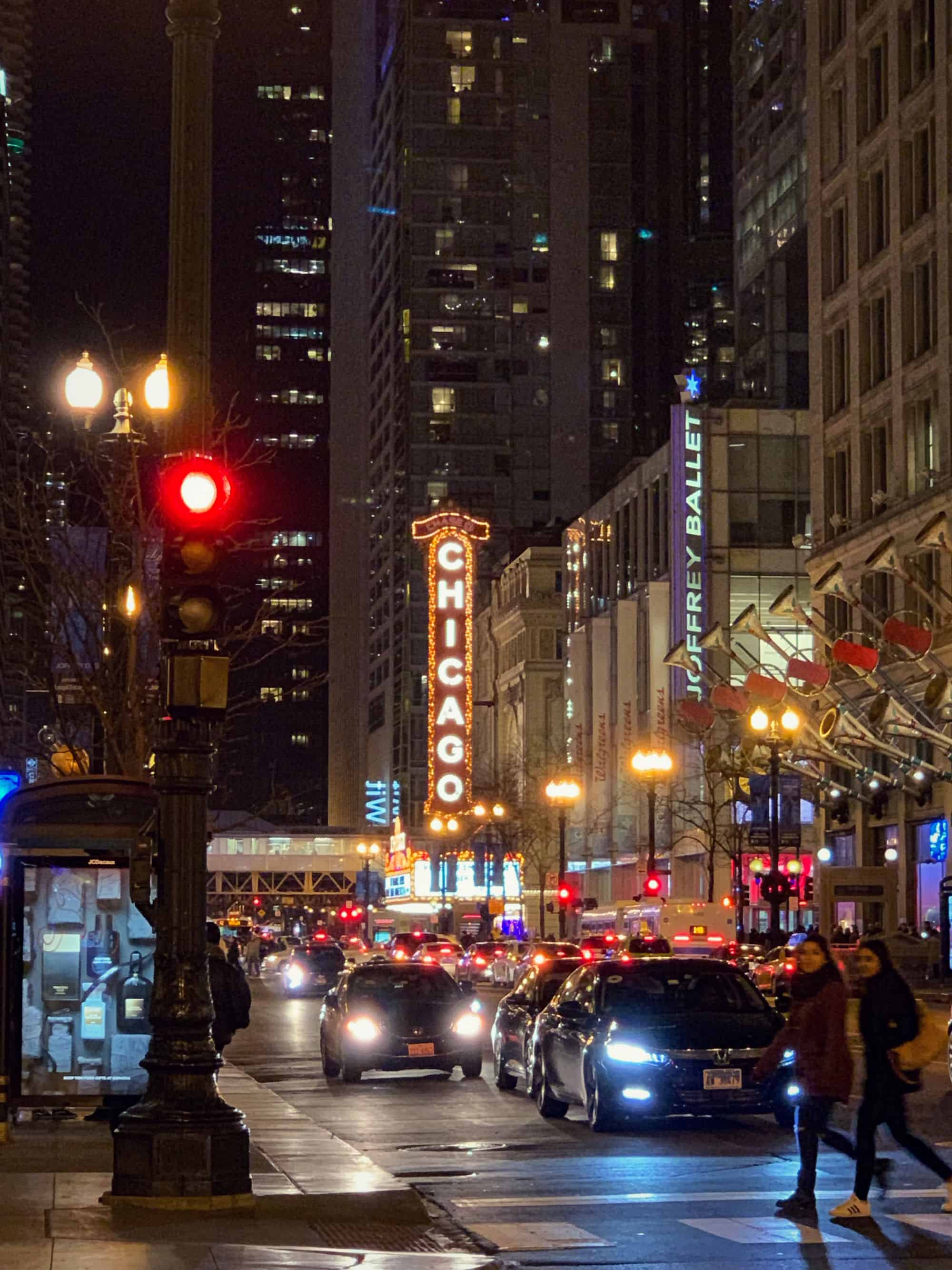 Chicago Theater de nuit