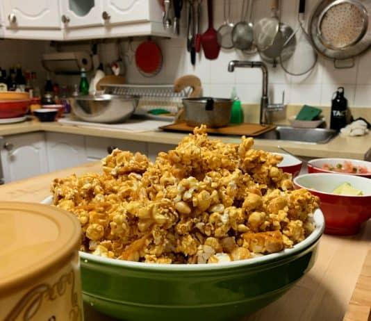 Popcorn caramélisé aux arachides façon Cracker Jack