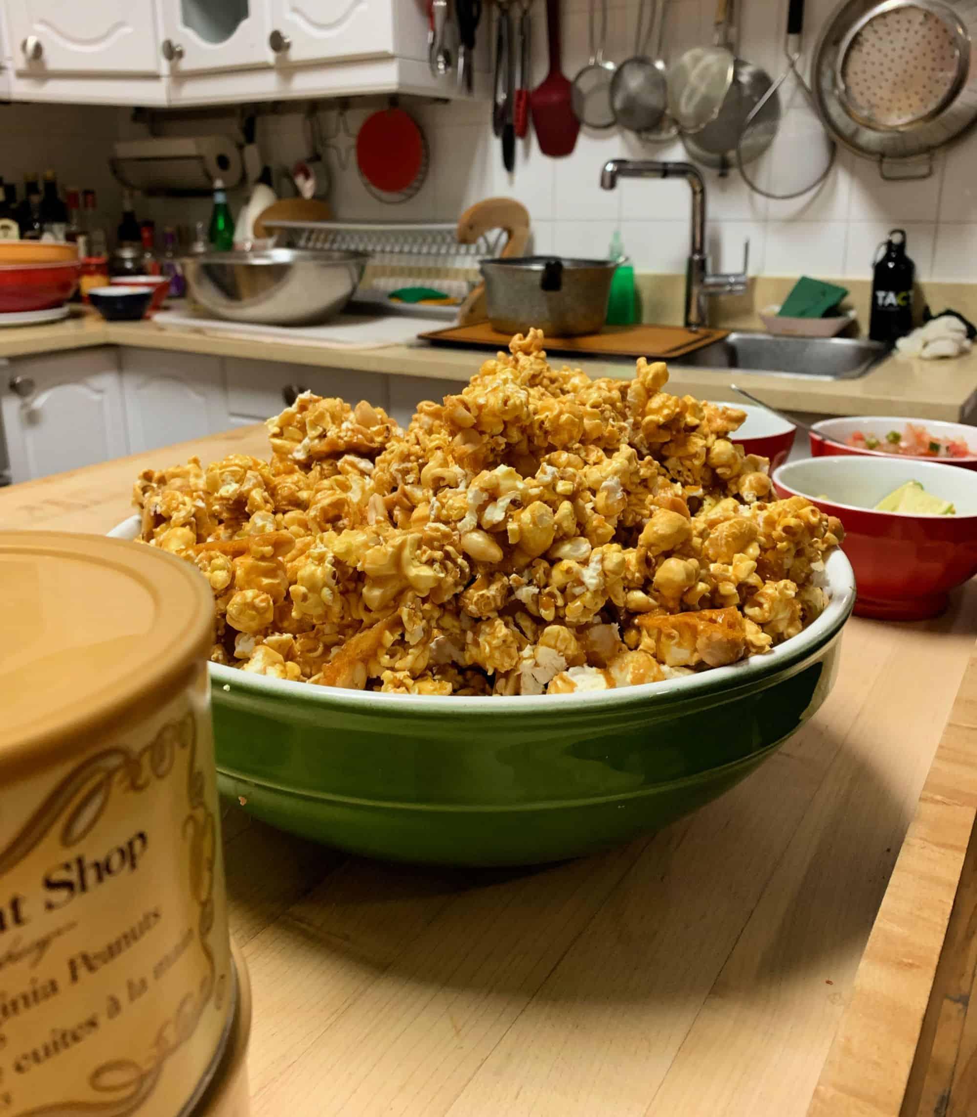 Popcorn caramélisé aux arachides, façon «Cracker Jack»