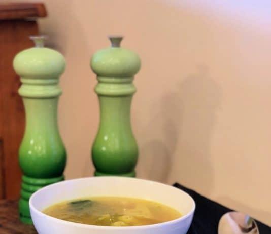 Recette de soupe poulet et courge spaghetti