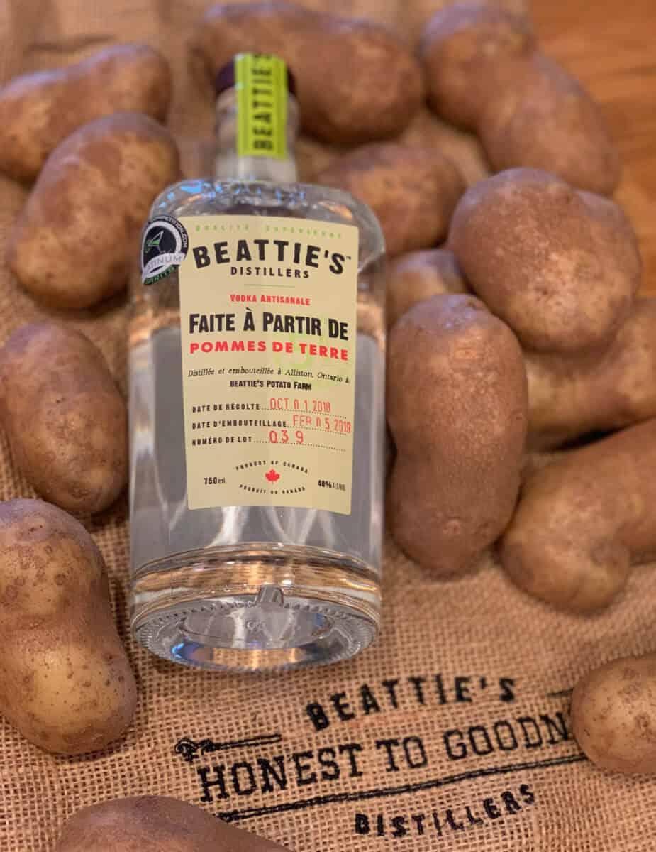 Vodka Beattie's - faite à partir de pommes de terre