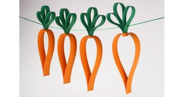 Guirlande de carottes - Pâques