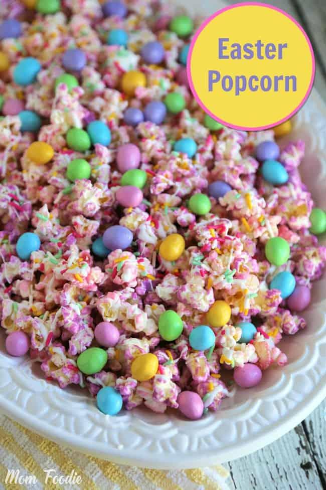 Popcorn aux couleurs de Pâques