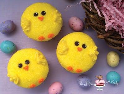 Des poussins en cupcakes