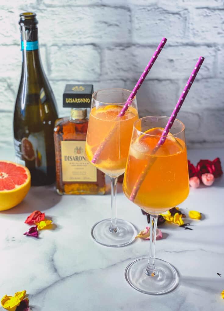 Amaretto spritz et grapefruit