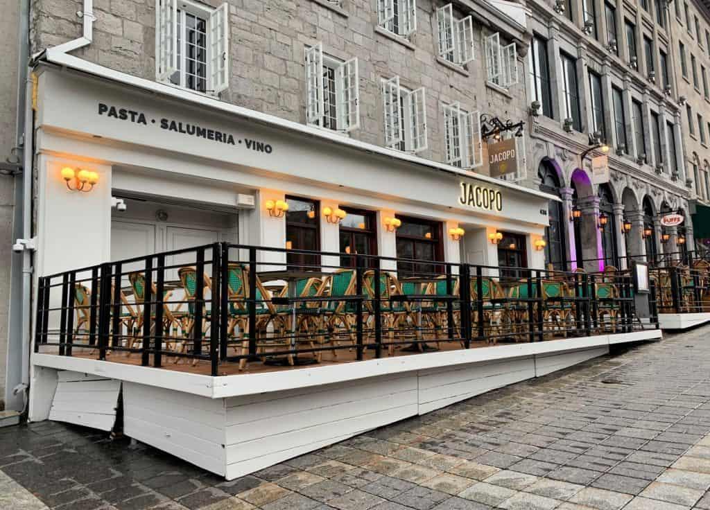 Facade du restaurant Jacopo