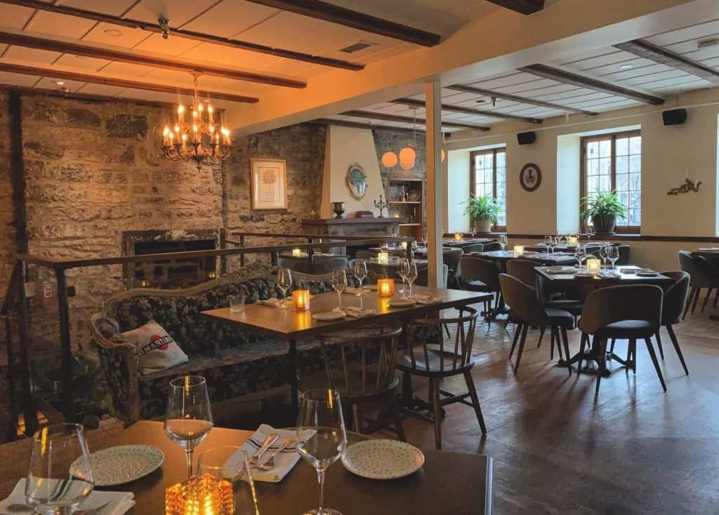 Intérieur du restaurant Jacopo