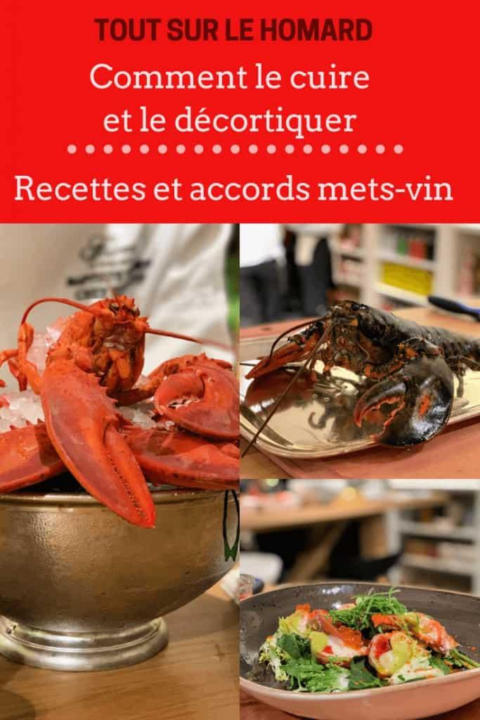 Tout sur le homard: comment le cuire et le décortiquer, suggestions de recettes et de vins