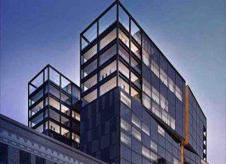 Façade de l'hôtel Four Seasons à Montréal