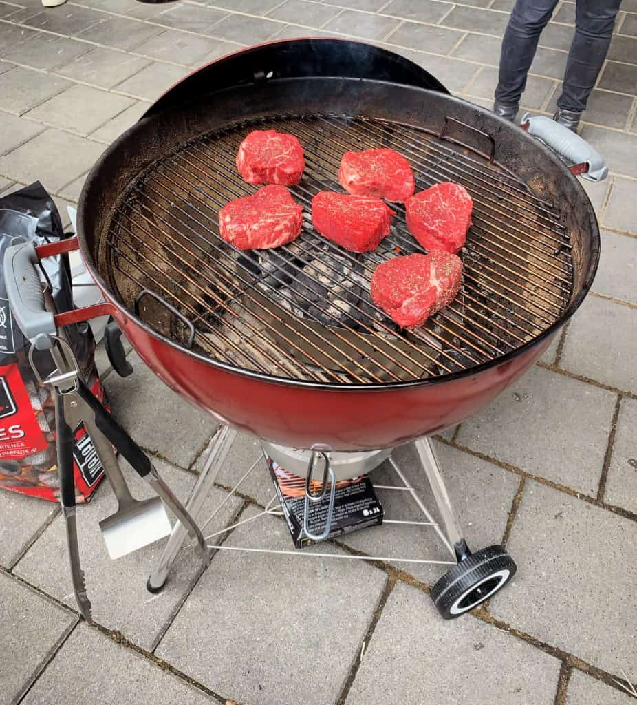 Meat on the BBQ