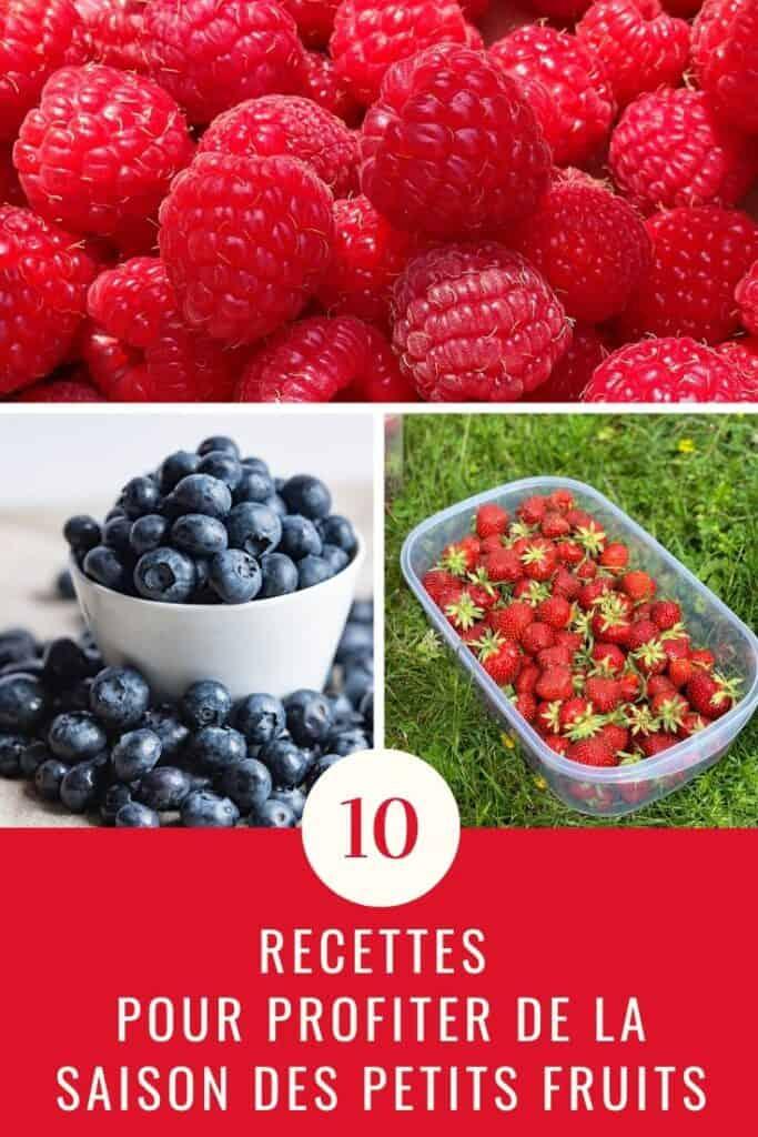 10 recettes pour profiter de la saison des petits fruits