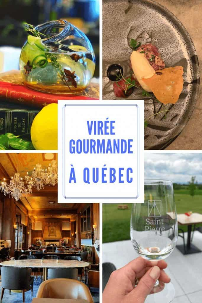 Virée gourmande à Québec: découvrez le Grand Marché, les cocktails du 1608 au Château Frontenac, la table créative du chef Stéphane Modat au Champlain, le St-Pierre, un nouveau vignoble sur l'île d'Orléans et la torréfaction des cafés de la Maison Smith.