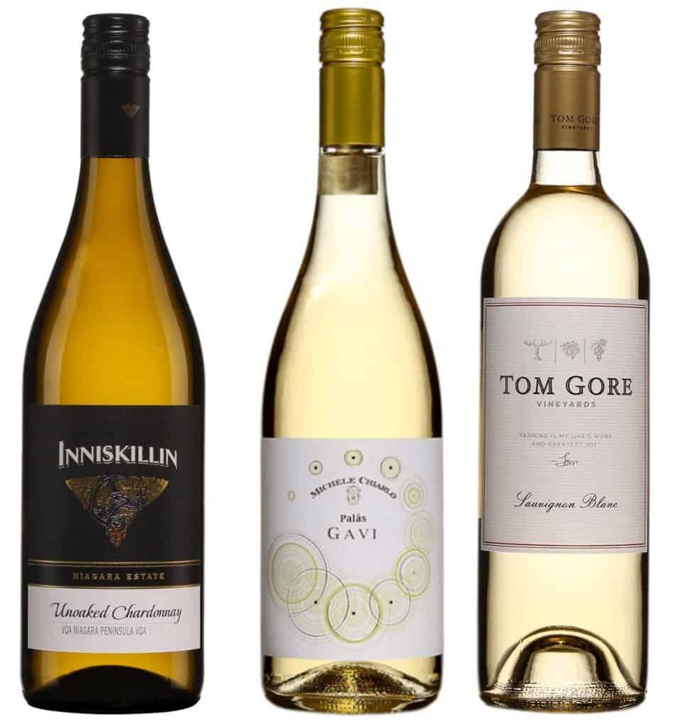 Suggestions de vins pour l'été: Inniskillin Chardonnay, Chiarlo Gavi et Tom Gore Sauvignon