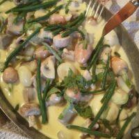 Blanquette de canard et petits légumes