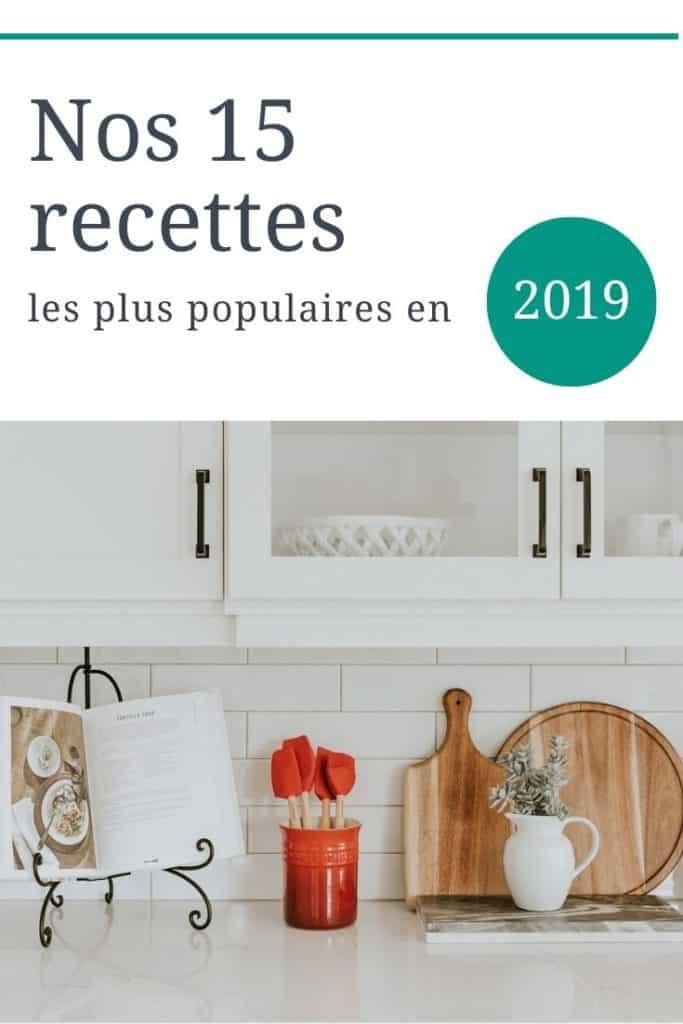 Nos 15 recettes les plus populaires en 2019