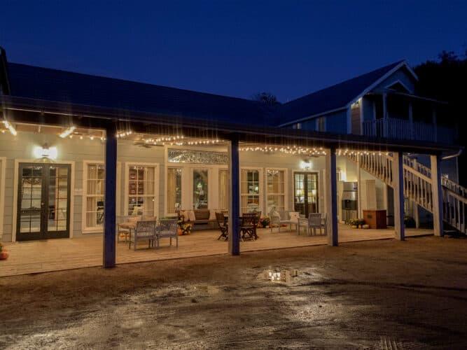Le bâtiment principal du Hoffman Haus à Fredericksburg Texas