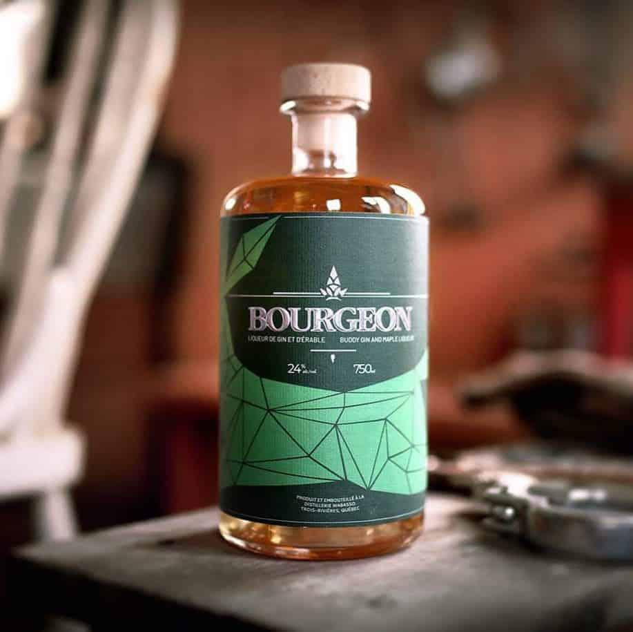Liqueur de gin à l'érable Bourgeon de la distillerie Wabasso