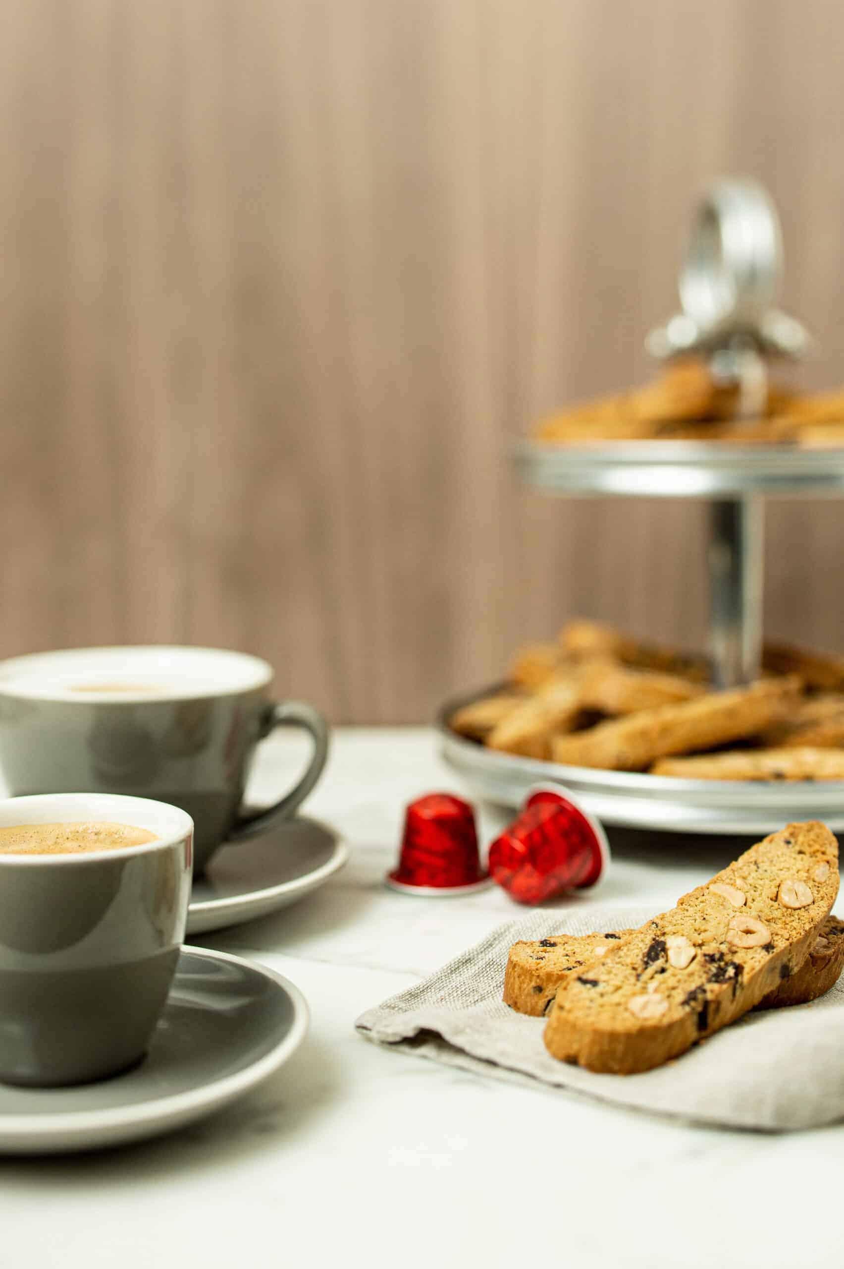 Biscottis café-choco et noix