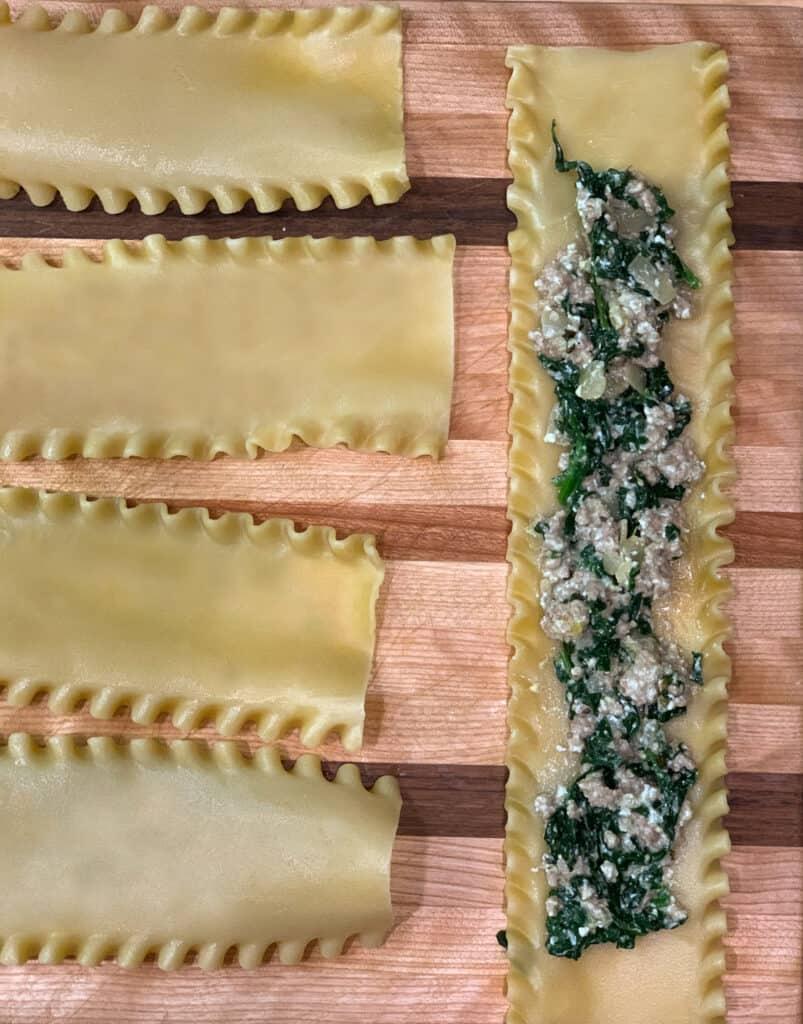 Comment confectionner les rouleaux de lasagne veau et épinard et ricotta