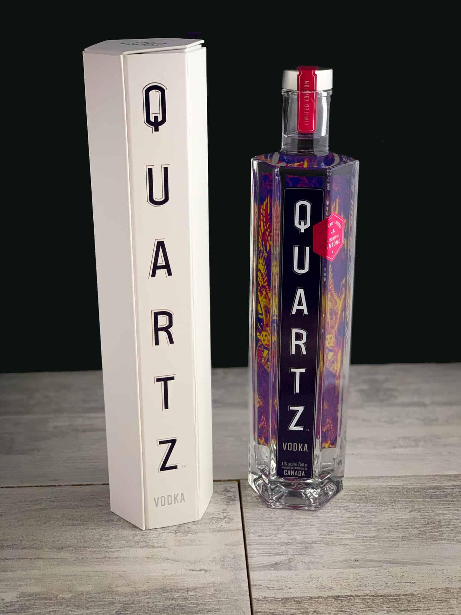 La vodka Quartz en mode colorée