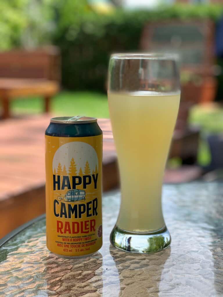 Happy Camper Radler, boisson houbonnée au pamplemousse