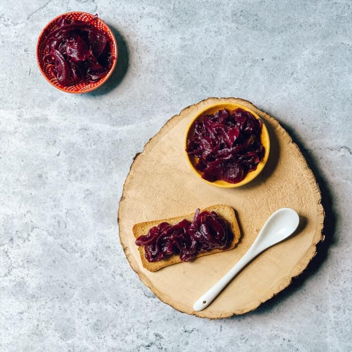 Confiture d'oignons au cabernet-sauvignon