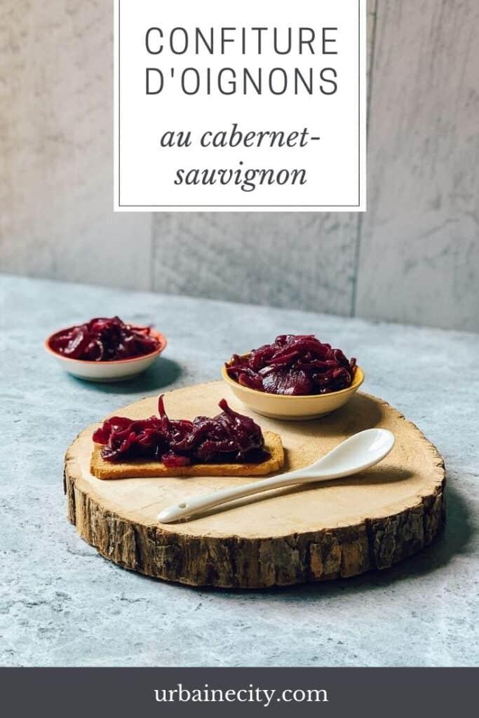 Confiture d'oignons au cabernet sauvignon