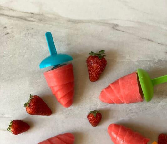 Popsicle fraises et mangues