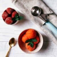 Recette de sorbet aux fraises (sans sorbetière)