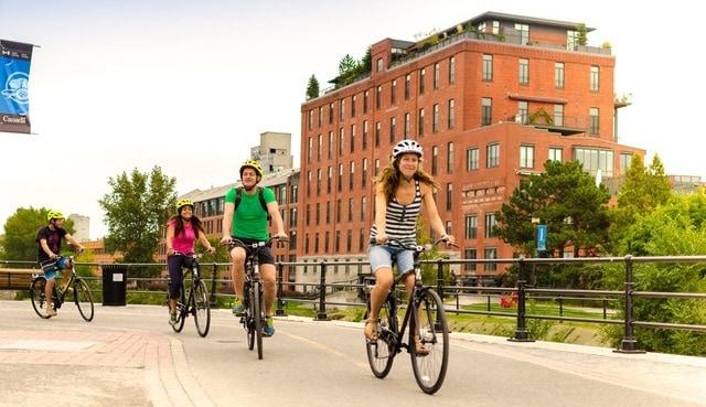 Circuit à vélo à Montréal