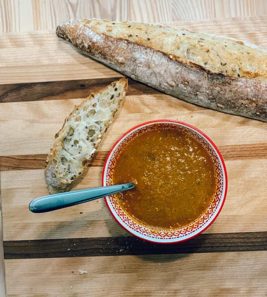 Pain Première Moisson et une bonne soupe d'automne