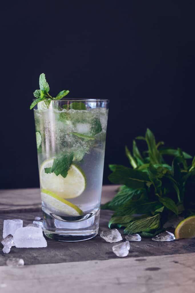 Menthe et cocktail
