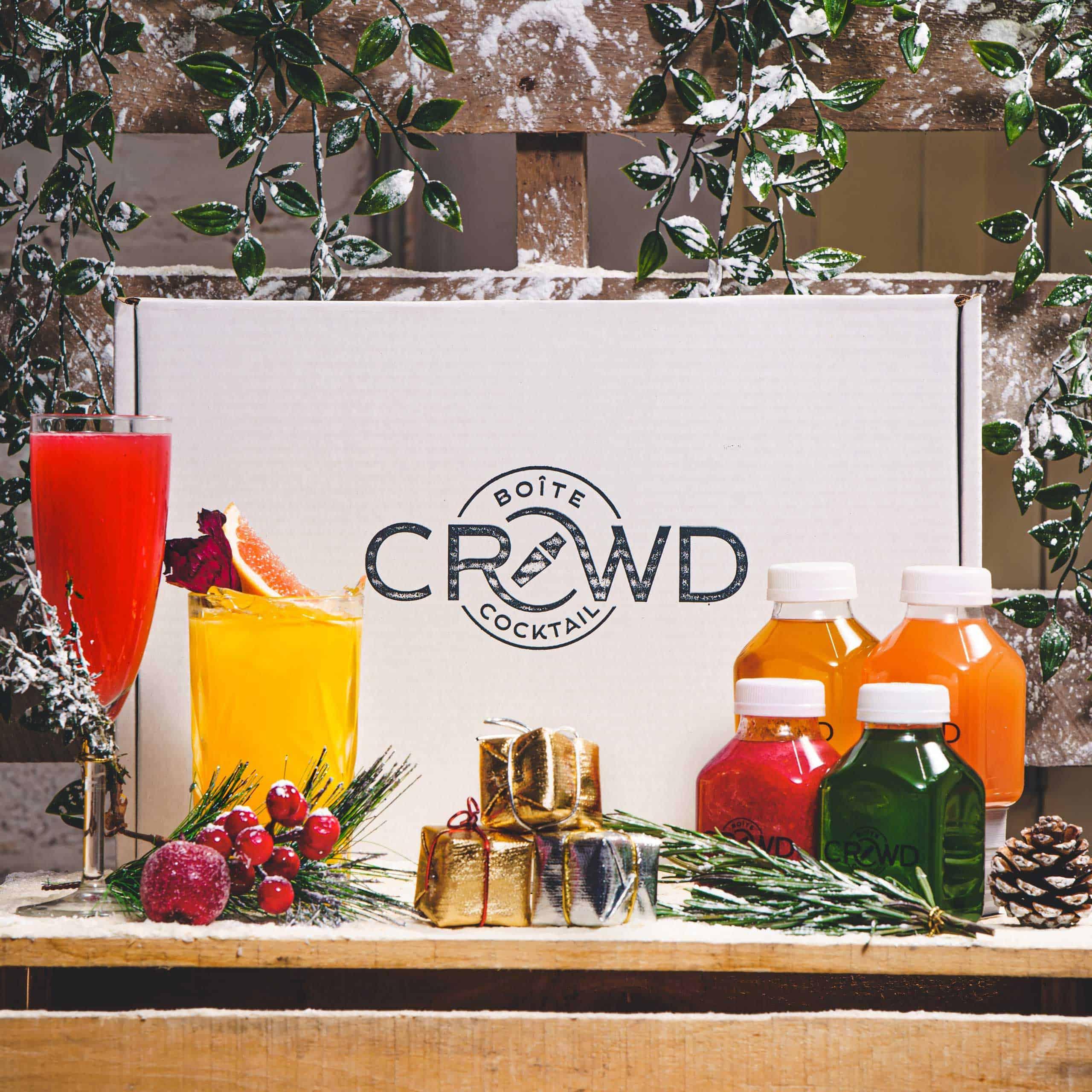 boîte de cocktails de Noël de Crowd and Flair